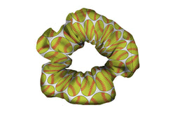 Softballs Yellow Red Scrunchy (SKU 1214 SCR)