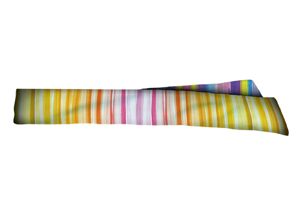 REVERSIBLE Watercolor Stripes Pink Lemonade/Pastel Head Tie (SKU 1258 HTB)