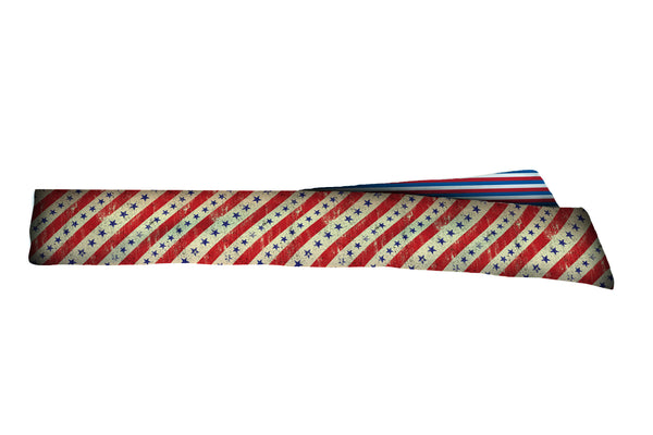 REVERSIBLE Vintage Stars/Stripes Head Tie (SKU 1265 HTB)