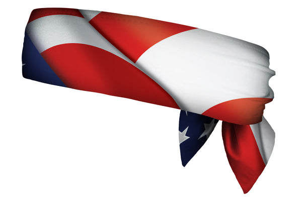 REVERSIBLE Star Spangled Banner/Royal Head Tie (SKU 1359 HTB)
