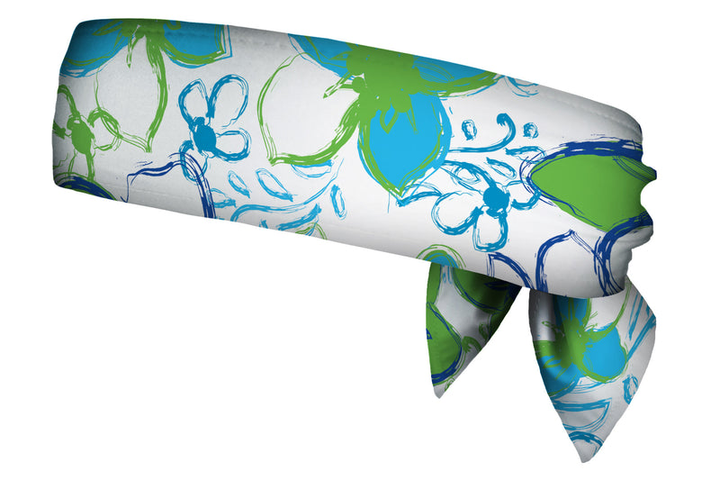 REVERSIBLE Tropical Ocean Blitz/Lime Head Tie (SKU 1360 HTB)