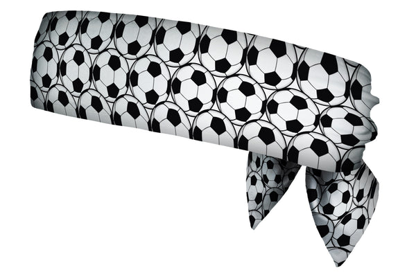 REVERSIBLE Soccerballs Black & White/Hey Batter Batter Head Tie (SKU 1371 HTB)