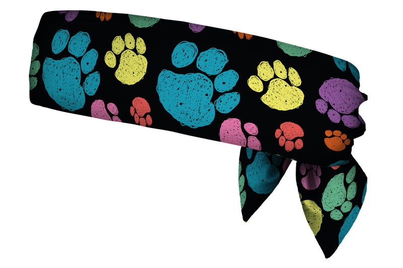 REVERSIBLE Sketchy Paws Multi/Greyscale Head Tie (SKU 1373 HTB)