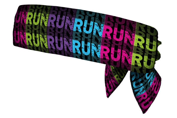 REVERSIBLE Run Run Run Multi/Black White Head Tie (SKU 1376 HTB)