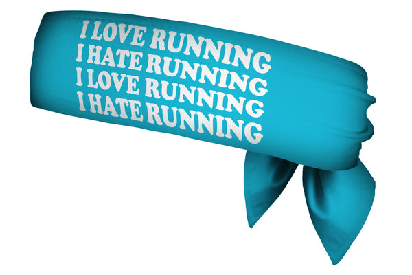 REVERSIBLE Love Hate Run/Run Like A Girl Head Tie (SKU 1379 HTB)