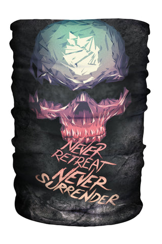 Multi-Gaiter Never Retreat Skull (SKU 1402 MG)
