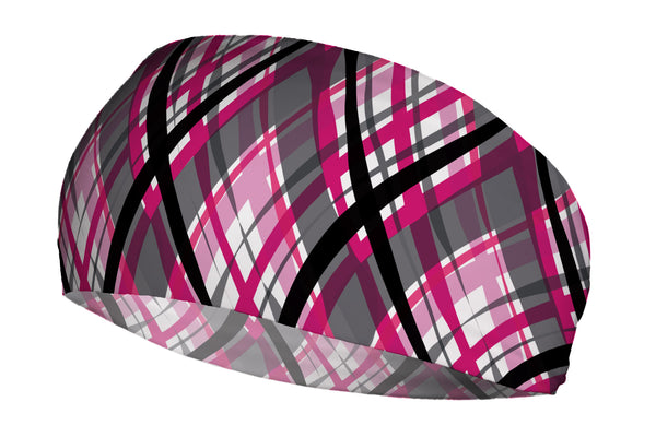 Wacky Plaid Black Pink (SKU 1643 SB)