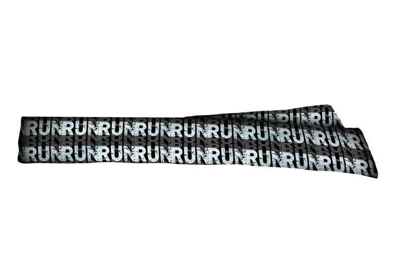 Run Run Run Black White Head Tie (SKU 1763 HTB)