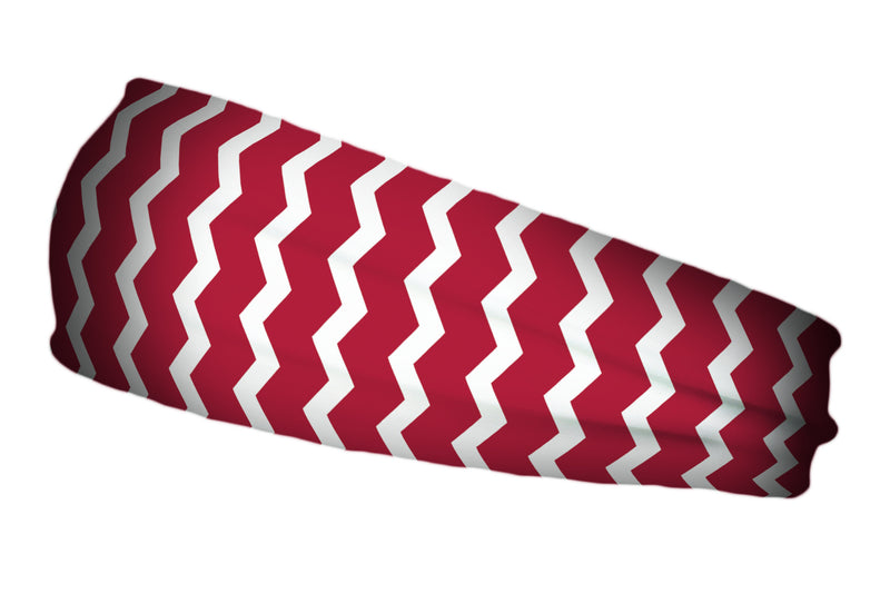 Vertical Chevron Maroon White (SKU 1826 SB)