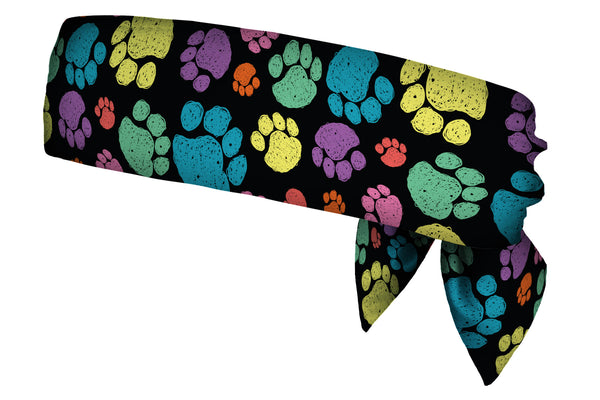 Sketchy Paw Prints Multi Head Tie (SKU 1838 HTB)