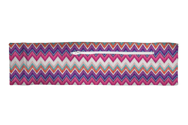 Venture Slim Belt Chevron Purple Pink Plaid (SKU 1931 VSB)