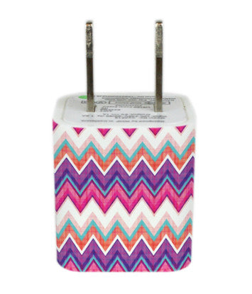Wall Adapter Chevron Purple Pink Plaid