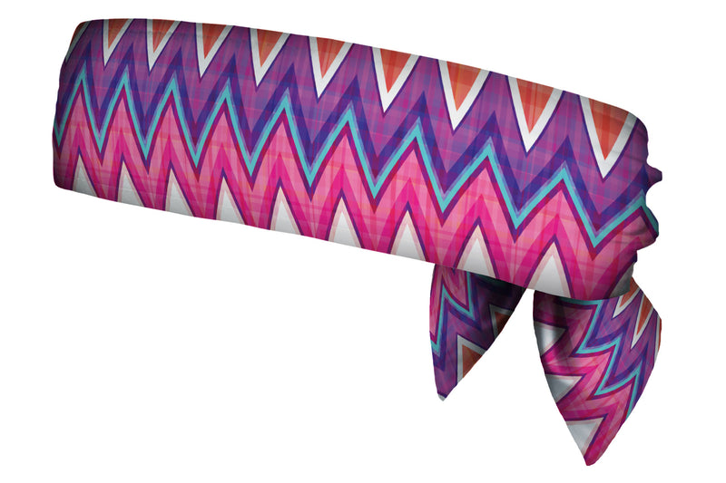 Chevron Purple Pink Plaid Head Tie (SKU 1931 HTB)