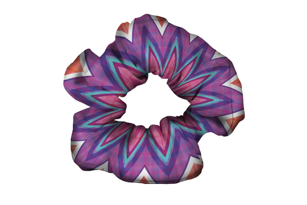 Chevron Purple Pink Plaid Scrunchy (SKU 1931 SCR)