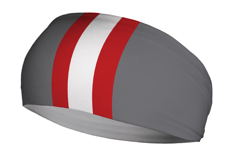 Helmet Stripes Scarlet Grey (SKU 1963 SB)