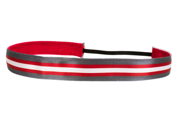 Helmet Stripes Scarlet Grey (SKU 1964)