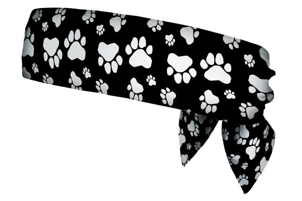 Paw Prints Black & White Head Tie (SKU 1968 HTB)