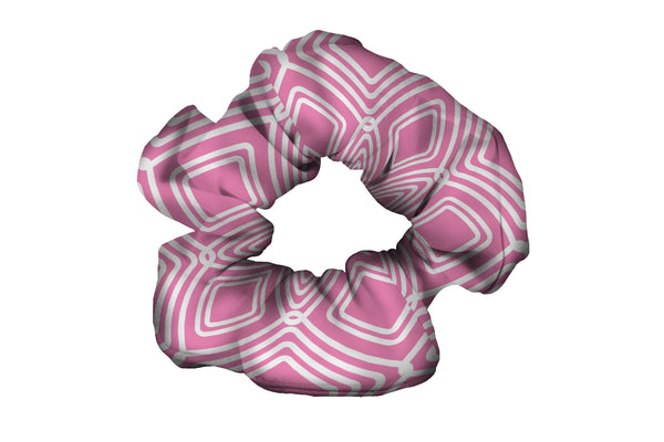 Diamonds Pink Scrunchy (SKU 2073 SCR)