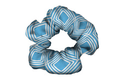 Diamonds Light Blue Scrunchy (SKU 2074 SCR)