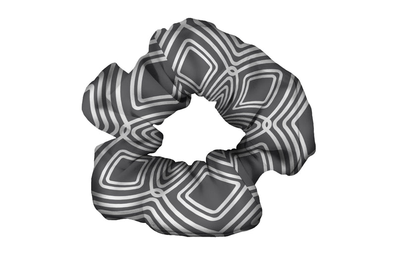 Diamonds Grey Scrunchy (SKU 2075 SCR)