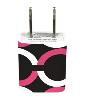 Wall Adapter Chained Pink Black