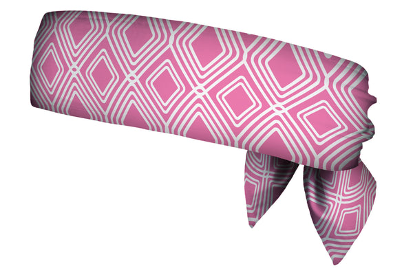 REVERSIBLE Diamonds Pink/Grey Head Tie (SKU 3036 HTB)
