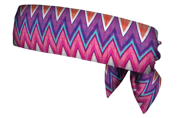 REVERSIBLE Chevron Plaid/Purple Head Tie (SKU 3037 HTB)