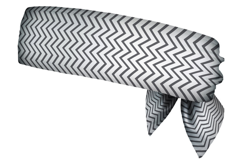 REVERSIBLE Chevron Mini Charcoal/Coral Head Tie (SKU 3038 HTB)