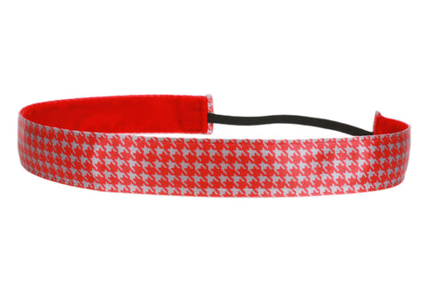 Houndstooth Red Grey (SKU 3112)