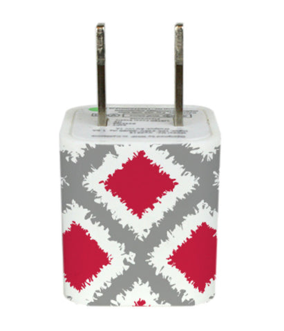 Wall Adapter OSU Tribal Diamonds Red Grey