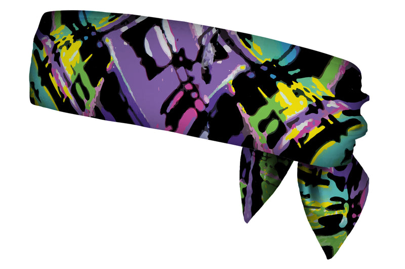 REVERSIBLE Modern Art Mash Up/Miami Bars Head Tie (SKU 3135 HTB)