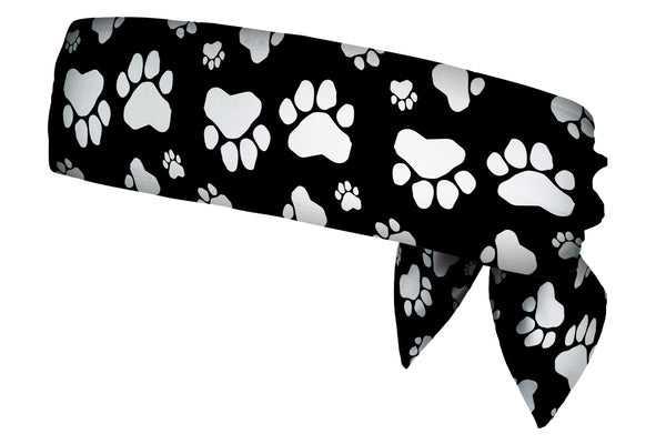 REVERSIBLE Paw Prints/Polka Dots Pink Head Tie (SKU 3208 HTB)