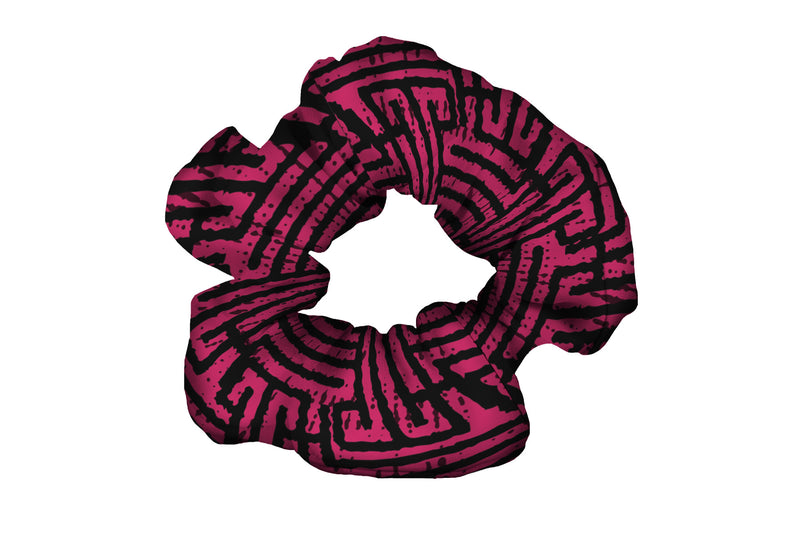 Labyrinth Pink Black Scrunchy (SKU 4140 SCR)