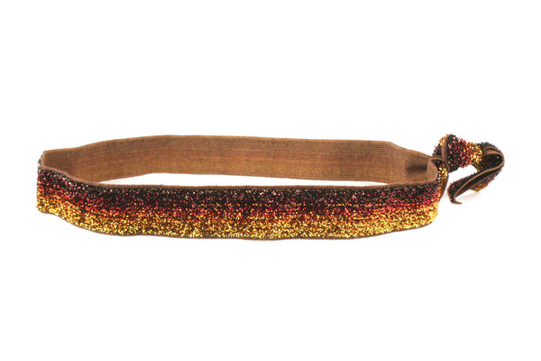 Glitter Root Beer Elastic Headband