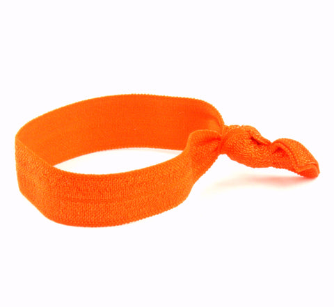 Solid Neon Orange Hair Tie (SKU 6046)