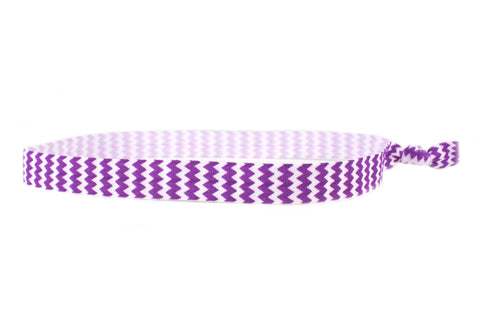 Chevron Purple Elastic Headband