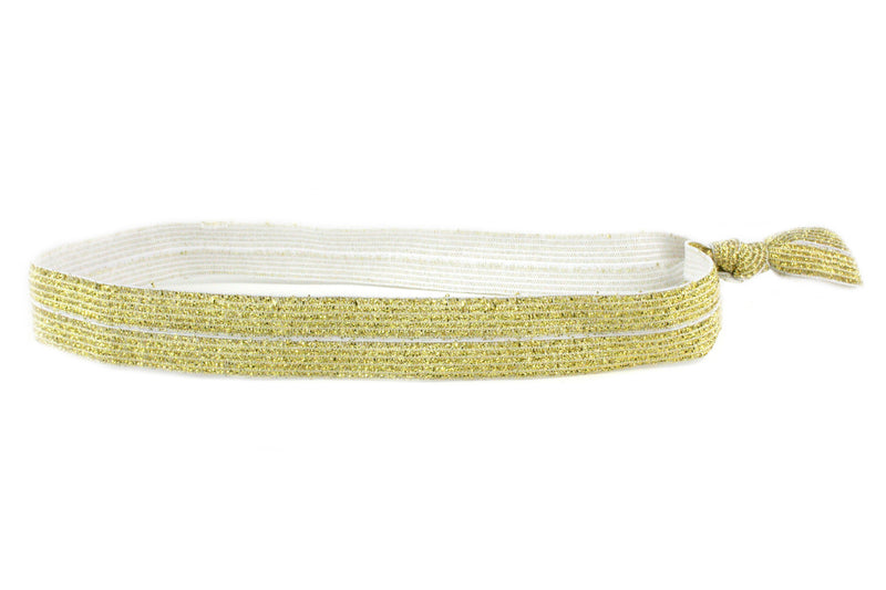 Sparkle Gold Elastic Headband (SKU 6013 HB)