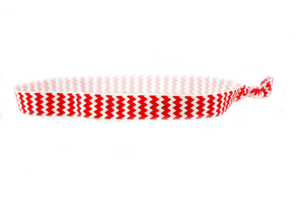 Chevron Red Elastic Headband