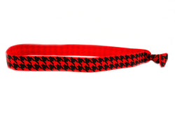 Houndstooth Red Elastic Headband (SKU 6029 HB)