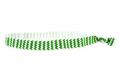 Chevron Green Elastic Headband