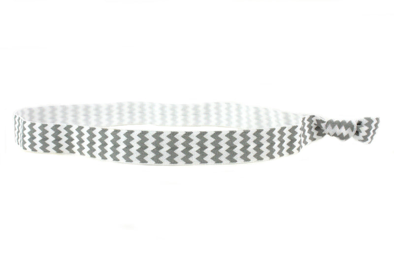 Chevron Grey Elastic Headband