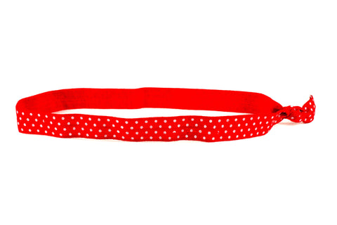 Polka Dots Mini Red White Headband (SKU 6062 HB)