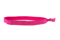 Polka Dots Mini Pink White Headband (SKU 6064 HB)