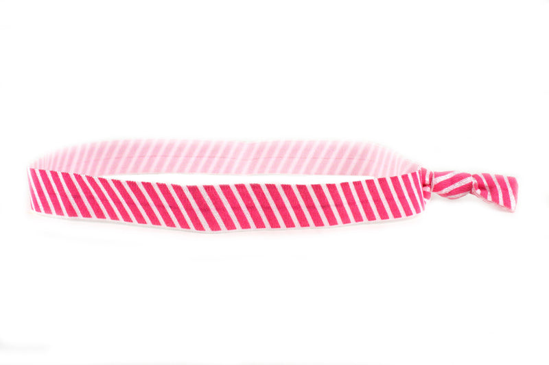 Stripes Pink Elastic Headband (SKU 6082 HB)