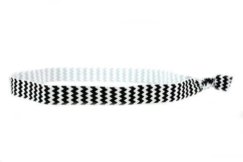 Chevron Black Elastic Headband