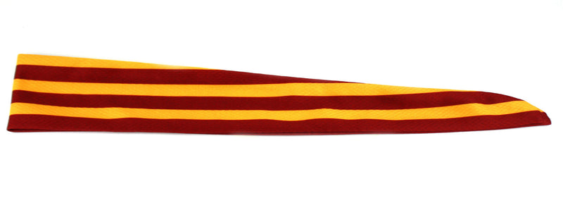 Tie Back Horizontal Stripes Maroon Gold (SKU 7507)