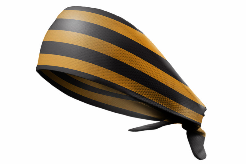 Tie Back Horizontal Stripes Black Gold (SKU 7508)