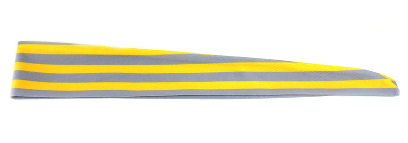 Tie Back Horizontal Stripes Grey Yellow (SKU 7511)
