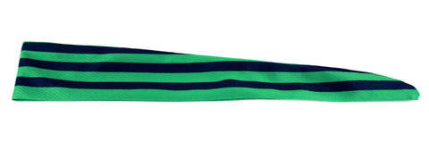 Tie Back Horizontal Stripes Green Navy (SKU 7513)