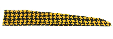 Tie Back Houndstooth Black Yellow (SKU 7515)